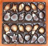 套巧克力甜点 免版税库存照片