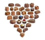 套巧克力candie,巧克力汇集 免版税库存图片