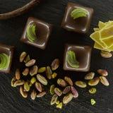 套巧克力candie, 免版税图库摄影