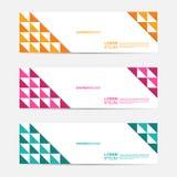 套平的三角平的营销设计横幅 免版税库存图片