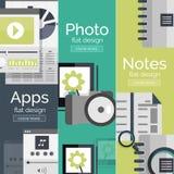 套平的设计流动性概念 免版税库存照片
