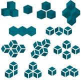 套徽标的13个多维数据集部分 免版税库存照片