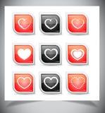 套心脏按钮 库存照片