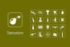 套恐怖主义简单的象 向量例证