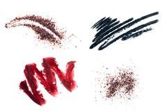 套您的设计的化妆用品元素 免版税图库摄影
