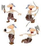 套您的逗人喜爱的海盗设计 动画片 免版税库存照片