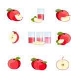 套成熟美味苹果 免版税图库摄影