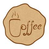 套手写的咖啡题材字法元素 库存图片
