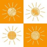 套手拉的太阳 图库摄影