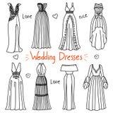 套手拉的妇女衣裳 婚礼礼服 库存图片