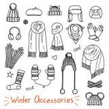 套手拉的妇女辅助部件 冬天 免版税库存图片