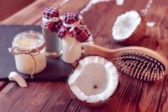 套护发的椰子产品 免版税库存照片