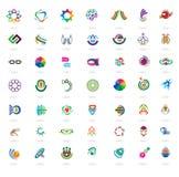 套抽象五颜六色的设计元素和象 免版税图库摄影