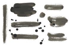 套抽象传染媒介油漆横幅 库存图片