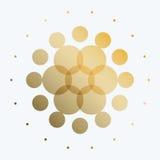 套抽象传染媒介黄色设计回合 免版税图库摄影