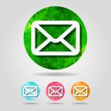 套抽象几何电子邮件按钮象 免版税库存图片
