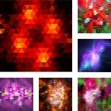 套抽象几何背景。 免版税库存图片