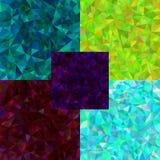 套抽象多角形背景 向量例证