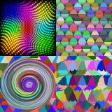 套抽象彩虹五颜六色的瓦片马赛克 库存照片
