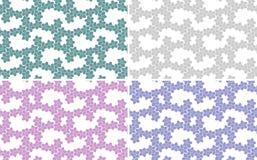 套抽象背景,无缝的纹理 不同的颜色:桃红色,紫罗兰色,浅绿色,绿色 库存图片