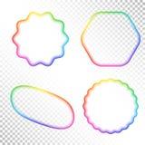 套抽象透明彩虹梯度模糊的形象 库存图片