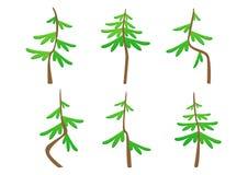 套抽象风格化树修剪 图库摄影
