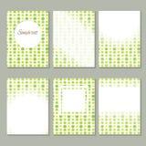 套拉长的卡片模板收藏 黄绿小条 库存照片