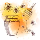 套拉长的蜂蜜 也corel凹道例证向量 abstract background bulgaria landscape photos 向量例证