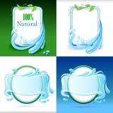 套新和自然水标签 皇族释放例证