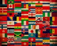 套旗子 免版税库存图片