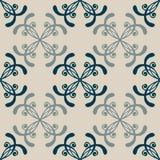 套无缝与抽象五颜六色花卉 免版税库存照片