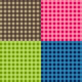 套无缝的桌布传染媒介 无缝的传统桌布样式传染媒介 几何简单的方形的样式 向量例证