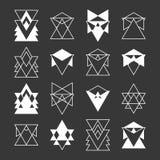 套时髦几何形状 宗教,哲学 免版税库存图片