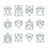套时髦几何象 几何行家略写法 库存图片