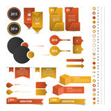 套时间安排Infographic设计模板 向量 库存照片