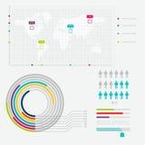 套时间安排Infographic设计模板 库存照片