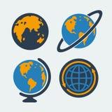 套标志行星 免版税库存照片