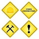 套标志建设中 站点的平的样式,设计 库存图片