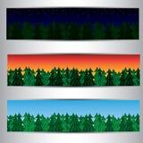 套森林横幅 免版税图库摄影