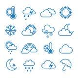 套概述天气象 库存照片