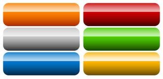 套横幅,按钮背景 水平的长方形按钮 皇族释放例证