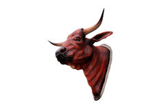 套母牛的艺术头骨 免版税图库摄影