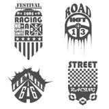 套汽车标签、象征和设计元素 免版税图库摄影