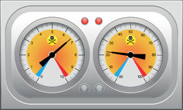 套汽车车速表,赛跑的设计的tahometers。 向量il 库存图片
