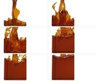 套油漆流程填满一个容器 库存照片