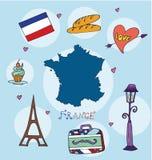 套法国的全国外形 库存图片
