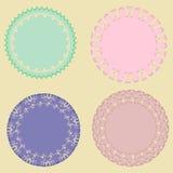 套浪漫葡萄酒圆的框架-例证 免版税库存图片