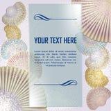 套海扇壳有抽象背景 库存图片