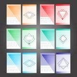 套海报,飞行物,小册子设计模板 免版税图库摄影