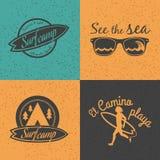 套海浪商标和象征 库存照片